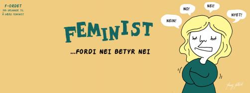 """Illustrasjon fra """"F-ordet"""" av Marta Breen, Jenny Jordahl og Madeleine Schultz"""