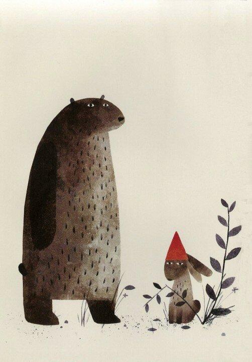 """Fra billedboken """"I Want My Hat Back"""" av Jon Klassen"""