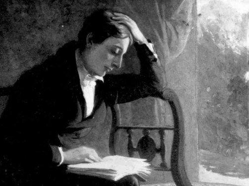 Keats i kjent positur