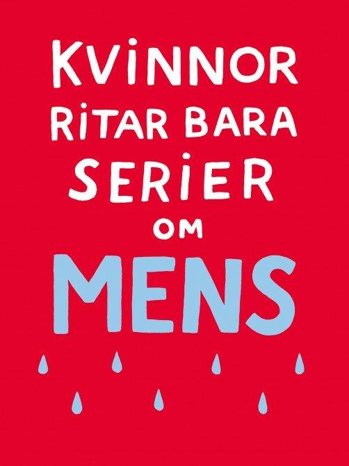 """Cover fra """"Kvinnor ritar bara serier om mens"""""""