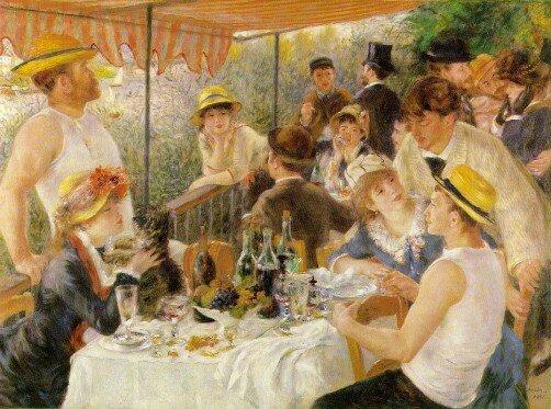 Maleri av Renoir som forestiller festende mennesker