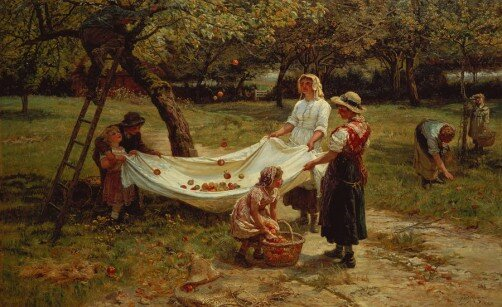 The Apple Gatherers av Frederick Morgan